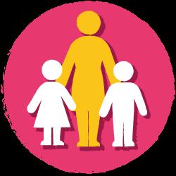 low child to staff ratio icon