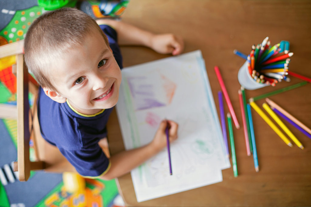 Sunshine preschool student coloring