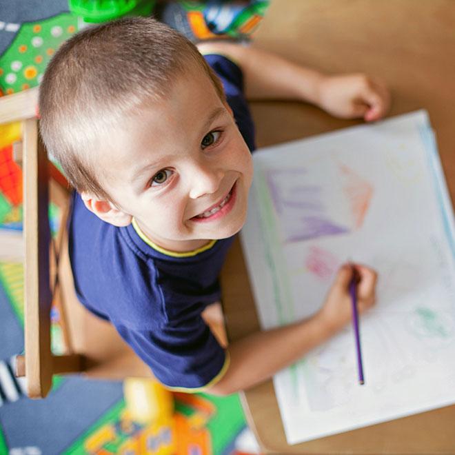 Sunshine preschool student coloring